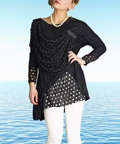 This Black Perforated layered Tunic is perfect! #zulilyfinds