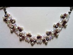 How to make an easy beaded pattern for bracelet and necklace - YouTube