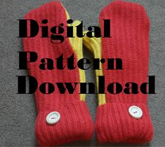 DOWNLOAD Making mittens from an old jumper, sweater, pattern and instructions by DigbysSVGShop on Etsy