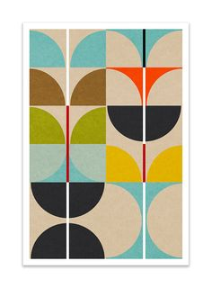 SWAN no.4 Giclee Print Mid Century Contemporary Modern by Thedor