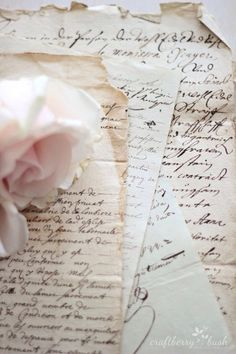 Romantic handwriting in old letters. Love Vintage, Old Letters, French Script, Princess Aesthetic, Handwritten Letters, Cursive, Vintage Lettering, Lost Art, Jolie Photo