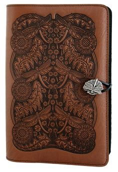 Leather Journal Cover | Diary | Dandelion Dragonfly in Saddle