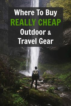 Where to buy really cheap outdoor and travel gear! Pin this list of money-saving websites and save $$$ on outdoor, backpacking, camping, hiking, and travel gear. Also, use these sites to find the best gifts for travelers and outdoor adventurers!: