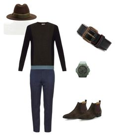 """Hints of green"" by syledbyallief on Polyvore featuring Goorin, Paul Smith, HUBLOT, Tomas Maier and Dolce&Gabbana"