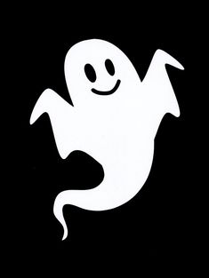 "Ghost Die Cuts 7 /2"" Tall for Halloween Banners and Decorations, Set of 10"