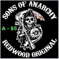 Image result for sons of anarchy cross stitch