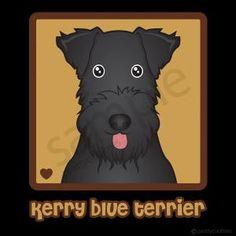 Kerry Blue Terrier Cartoon Heart T-Shirt