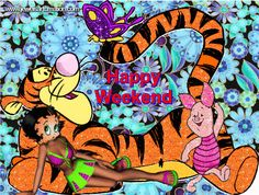 cute graphics, cute pictures, cute animation, glitter graphics, Betty Boop comments, weekend comments, Happy Weekend