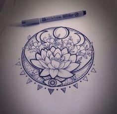 Pretty lotus flower tattoo idea ❤️...Cool!
