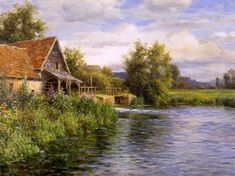 Cottage by the River - Louis Anton Knight