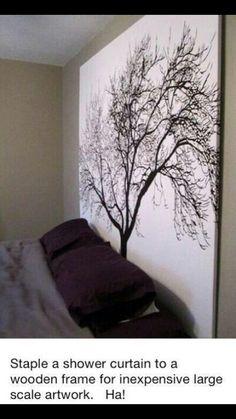 Shower curtain decoration