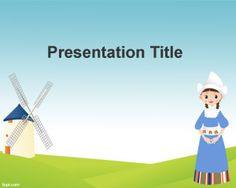 Holland Mills PowerPoint Template is a free PPT template for presentations on mills and Holland mill