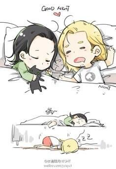 I really love all these young Thor and Loki pictures, so cute!