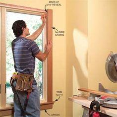 simple craftsman window sill