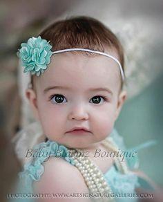Baby Headband Mini Flower Headband Baby girl by BabyBloomzBoutique, $4.95