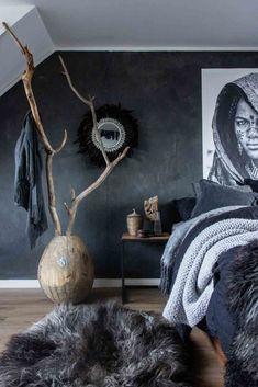Slaapkamer met Pure & Original Fresco kalkverf
