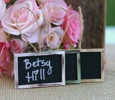 Chalkboard Name Cards #unique #lovely