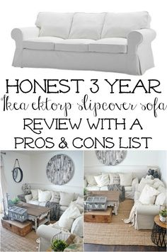 A super honest Ikea Ektorp sofa review after 3 years of owning it! super thorough with lots of comments from others who own it as well!