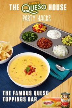 Velveeta and RO*TEL make any gathering great. Rich, melty and BOLD Famous Queso is a crowd-pleasing dip, snack, or appetizer… (With images) Party Hacks, Party Ideas, Winter Fruits And Vegetables, Citrus Fruits, Vegetables List, Spring Fruits, Veggies, Super Bowl Essen, Healthy Recipes