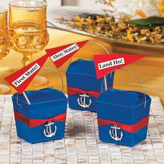 Anchors Away! Takeout Box - OrientalTrading.com