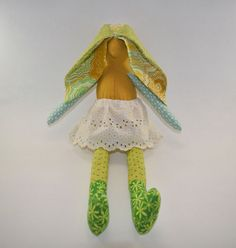 Scrappy Easter Bunny! Girl's Easter Basket idea. Softies.