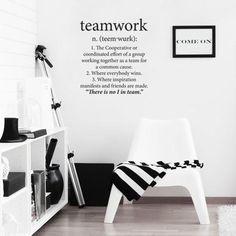 Teamwork Wall Vinyl – Black from Love Lexicon Wall Art - R229 (Save 56%)