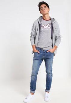 Hollister Co. - TECHNIQUE - T-shirts med print - maredeth grey/andorra ringer