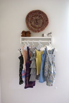 Use a spice rack as a mini closet!