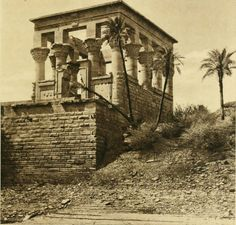 Ruins of the Temple of Philae, Egypt, circa 1899.