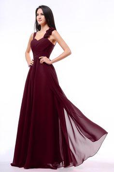 Burgundy-Bridesmaid-Dresses-A-Line-Sweetheart-