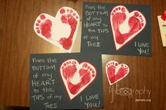 Valentine's Kids Crafts. This is perfect for a present from the kids to the parents.