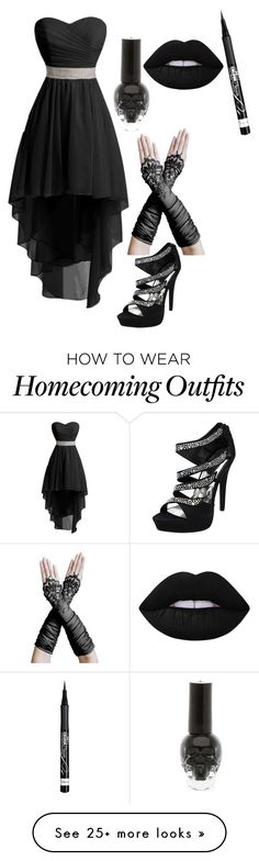 """""""Party outfit No.4"""" by the-weird-one-lexi on Polyvore featuring Rimmel and Lime Crime"""