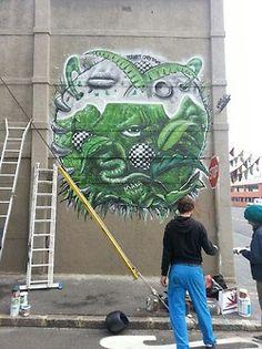 Graffiti by Makatron, Cape Town, South Africa Woodstock, Cape Town, South Africa, Graffiti, Street Art, New Homes, Fresh, Graffiti Artwork, Street Art Graffiti