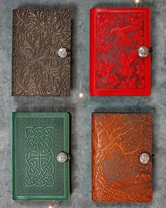 Our handmade Oberon Refillable Leather Journals come in a variety of colors and styles making them fantastic gifts.  by jennibick
