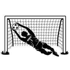Vinilos Infantiles: Portero de fútbol personalizado Soccer Silhouette, Soccer Tattoos, Soccer Drawing, Sketchbook Challenge, Soccer Motivation, Soccer Cake, Captain Tsubasa, Monogram Logo, Paint Party