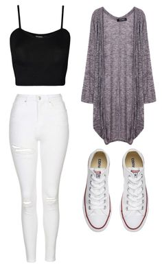 """#outfits of the Day"" by thao-zada11 ❤ liked on Polyvore featuring WearAll, Topshop and Converse"