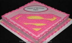 supergirl birthday cake Picture