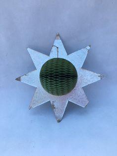Vintage Honeycomb Star Christmas Decoration, Festive Decoration, 1950s Christmas Star, Christmas Hanging Decoration, Christmas Display