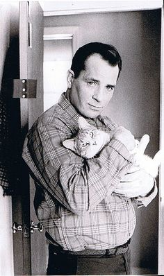 kerouac loved cats    the cat looks so confident, it's awesome