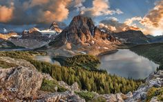 Assiniboine Sunset by agubski