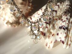 Princess Length 1718 AB Clear Faceted Crystal and by CEOriginals