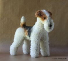 Wire Fox Terrier PDF dog sewing pattern by EmmaHallArt Looks like my old Fritzy! Perro Fox Terrier, Wirehaired Fox Terrier, Wire Fox Terrier, Airedale Terrier, Terrier Dogs, Cat Gifts, Dog Lover Gifts, Smooth Fox Terriers, Irish Terrier