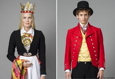 some of many Norwegian national costumes