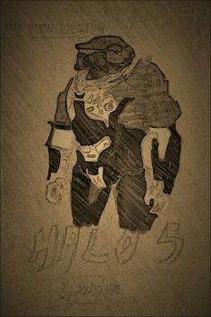 Halo 5 Fred brainstorming ... my small brother made the sketch and i edited it in Picsart.