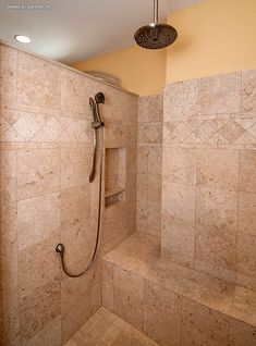 The Evangeline - Plan 1137. Luxurious walk-in shower in the master bathroom! http://www.dongardner.com/plan_details.aspx?pid=3096. #Walkin #Shower #MasterBath