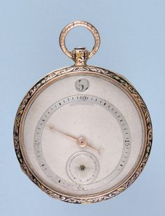 Antique Pocket Watch - Gold and Enamel Digital Dial Cylinder from Pieces of Time