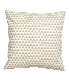 Check this out! Cushion cover in cotton fabric with a printed pattern. Concealed zip. - Visit hm.com to see more.