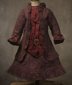 French Silk Dress for Large Doll