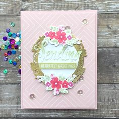 Sharp Designs: The Card Concept Mother's Day Pretty Pink Posh, Gold Picture Frames, Gold Powder, Glitter Glue, Card Maker, Hero Arts, Background Patterns, I Card, Fun Facts