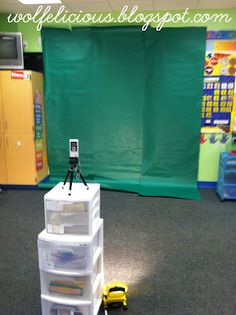 Directions for using a green screen to create classroom movies. LOVE this idea!